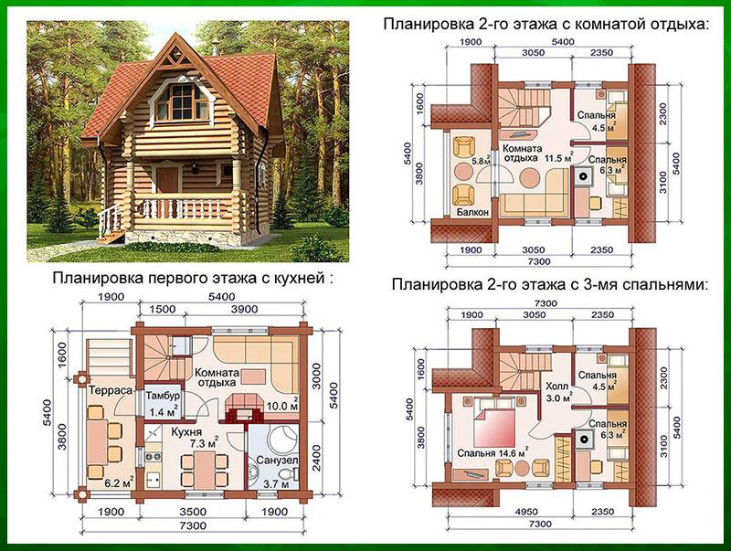 план-схема дома на дачном участке